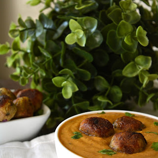 Plantain Koftas in a Fijian Indian curry