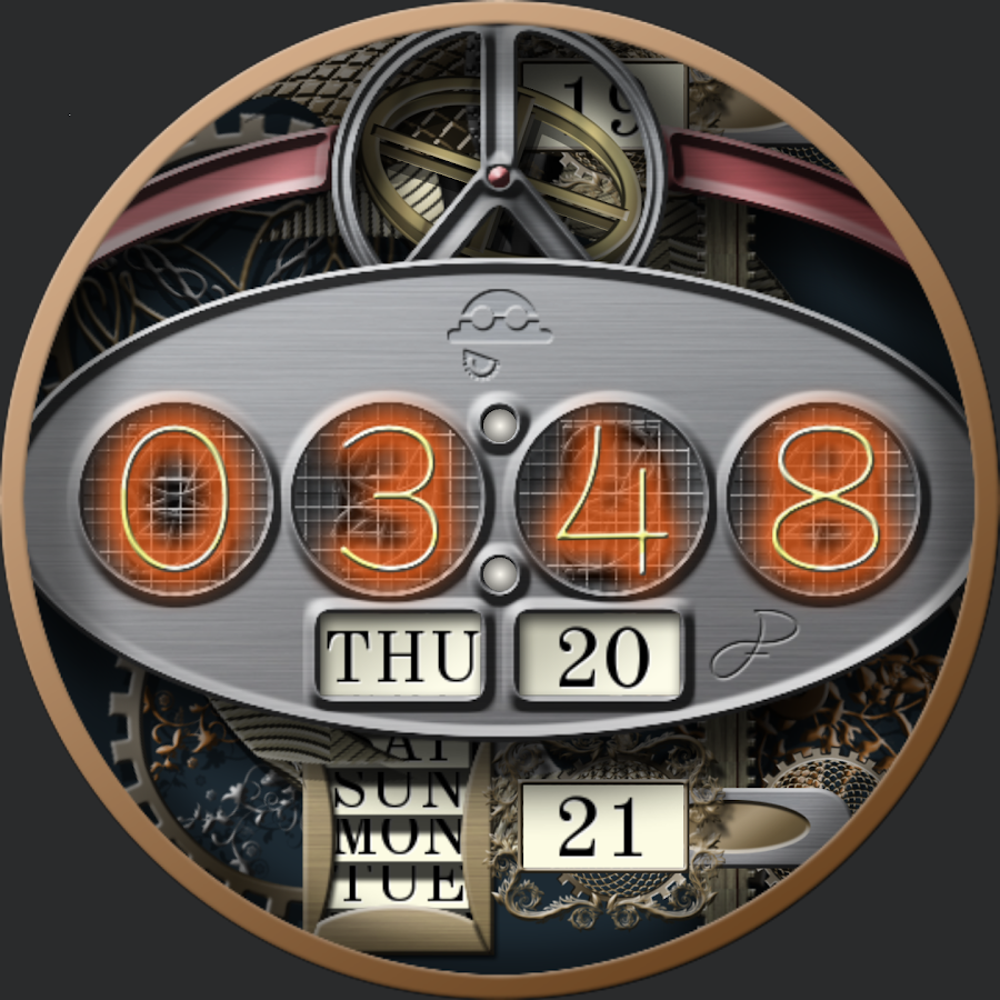 Steampunk VII for WatchMaker Screenshot 2
