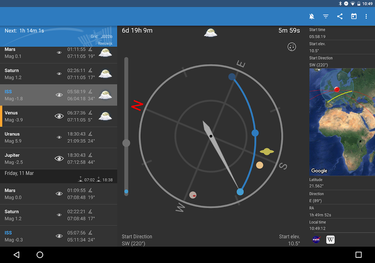 ISS Detector Satellite Tracker Screenshot 7