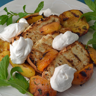 Grilled Princess Pound Cake and Peaches with Whipped Cream