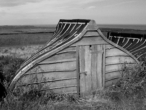 Boat Shed by Keith Sutherland - Artistic Objects Other Objects ( keelboat, northumberland, boat shed, holy island, lindisfarne,  )
