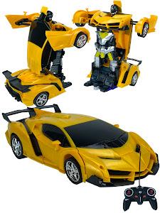 """Машинка серии """"Город Игр"""", трансформер на радиоуправлении, желтый"""