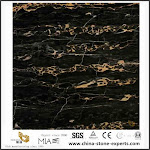 Low Price Afghanistan Black Portoro Gold Stone Marble For Kitchen Wall Decoration
