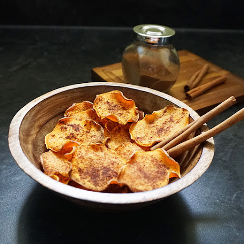 Parmesan Garlic Baked Sweet Potato Chips Recipe | Yummly