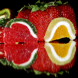 strawberry with candys by LADOCKi Elvira - Food & Drink Fruits & Vegetables ( candys, strawberry )