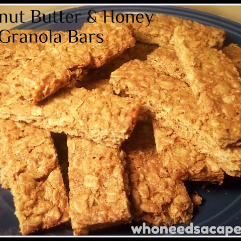 Peanut Butter & Honey granola bars