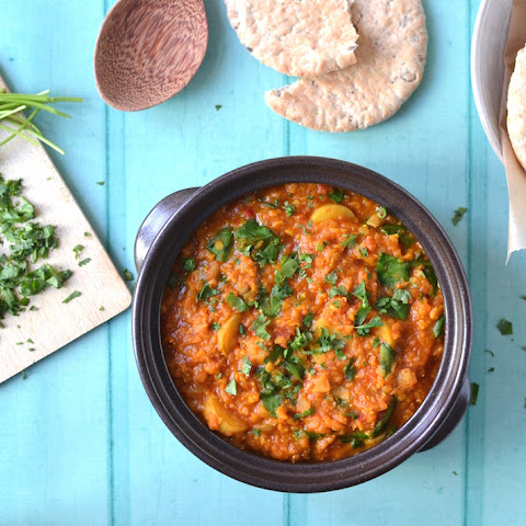 Red Lentil, Spinach & Potato Curry with Baobab