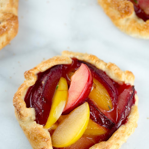 Fresh Pluot Crostatas with Honey & Thyme