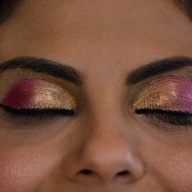 bride's make up by Barbara Springer - People Body Parts ( gujarati, make up, cultures, wedding, indian, traditional, closed, bride, eyes )