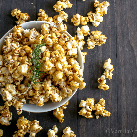 Rosemary-Stout Salted Caramel Popcorn