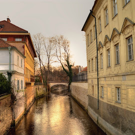Old Town by Vagelis Baslis - City,  Street & Park  Historic Districts ( street, neighborhood, old town, bridge, travel, landscape, canal, prague )