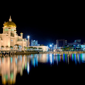 Reflection by Mohamad Sa'at Haji Mokim - Buildings & Architecture Places of Worship ( water, reflection, mosque )