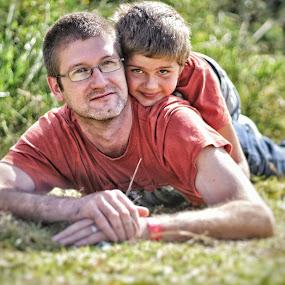 Father & Son  by Johann Bekker - Novices Only Portraits & People