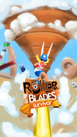 android RollerBlades Survivor Tornado Screenshot 0