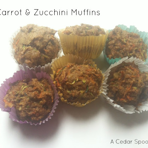 Carrot and Zucchini Muffins {Kid Friendly}
