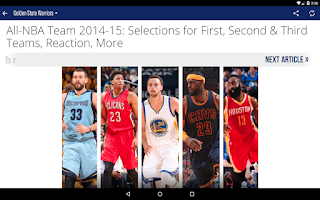 Screenshot of Team Stream by Bleacher Report