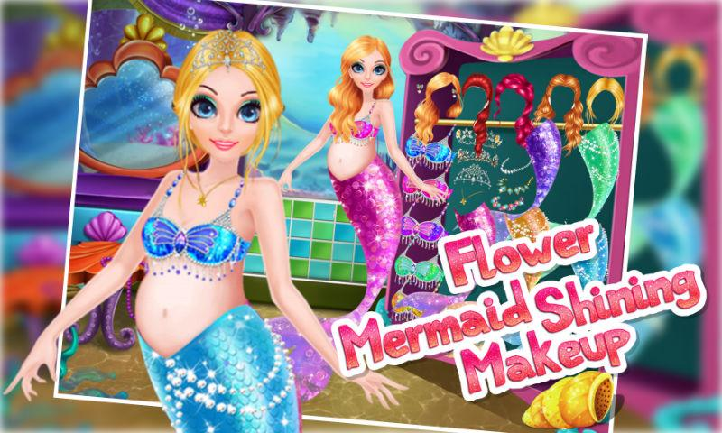android Flower Mermaid Shining Makeup Screenshot 2