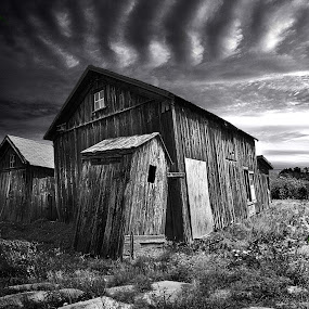 Bygone by Phil Koch - Buildings & Architecture Other Exteriors ( vertical, summer. spring, photograph, environement, farmland, yellow, leaves, love, nature, barn, autumn, flowers, orange, twilight, agriculture, horizon, myhorizonart, portrait, winter, national geographic, serene, floral, inspirational, natural light, wisconsin, black and white, phil koch, pwcbuilding, spring, sun, photography, farm, praire, horizons, inspired, clouds, office, green, scenic, morning, field, red, blue, seasons, sunset, peace, fall, meadow, sunrise, earth, landscapes, filed, , time scars )