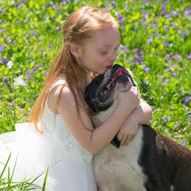 puppy kisses by Skylor Couch - Babies & Children Child Portraits