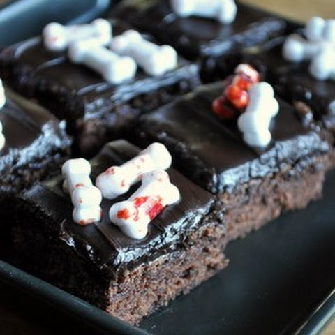Brownies with Dark Chocolate Frosting