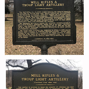 MELL RIFLES & TROUP LIGHT ARTILLERY The Mell Rifles. Co. D. Cobb's Legion Infantry, was raised in Athens, GA. in July 1861 by Patrick Hues Mell, Baptist minister and Vice Chancellor of the University ...