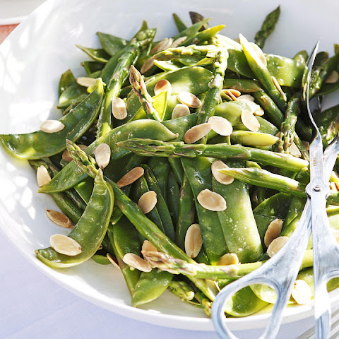 Asparagus, Snow Pea and Almond Salad