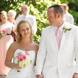Ashley and Nick by Tony Bendele - Wedding Bride & Groom ( wife, wedding, husband, bride, people, groom )