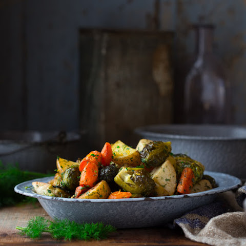 Roasted Root Vegetables With Spring Herbs