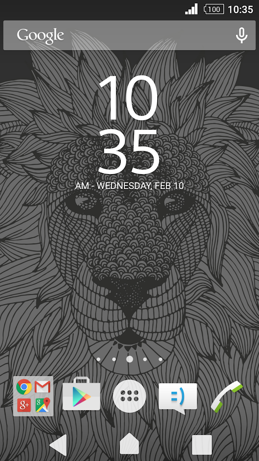 XPERIA™ Lion Theme Screenshot 1