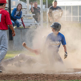 by Kevin Esterline - Sports & Fitness Baseball ( play, safe, baseball, runner, home, out )