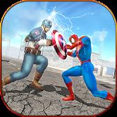 Super Spider Hero vs Captain USA Superhero Revenge APK for Bluestacks