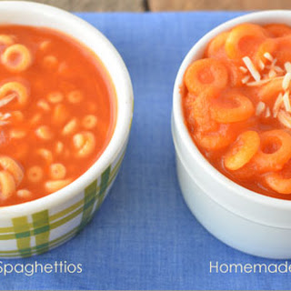 Homemade Spaghettios- With Extra Veggies