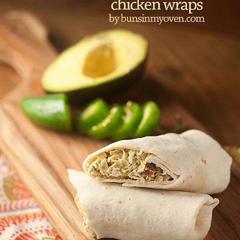 Pineapple Guacamole Chicken Wraps