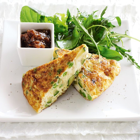 Mixed Vegetable Frittata With Onion Relish