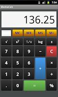 Screenshot of MediaCalc - Pocket Calculator