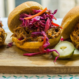 Pulled Pork Sliders w/ Coleslaw by Antonio Winston - Food & Drink Plated Food ( sliders, food, home cooked, food photography, pulled pork )