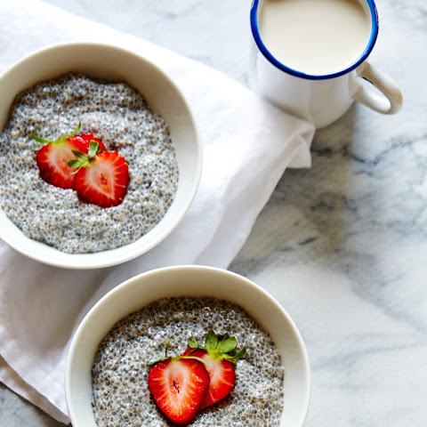Vanilla Chia Pudding with Chestnut Honey & Berries