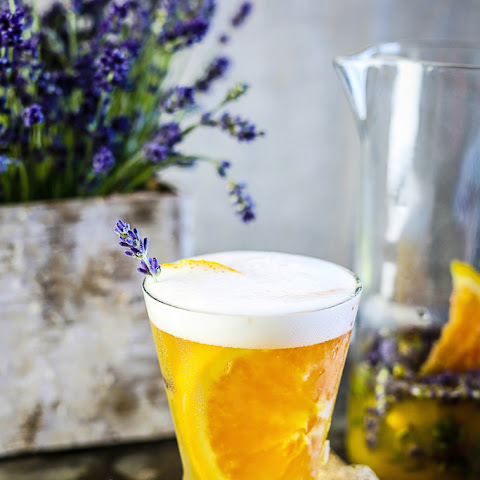 Citrusy Beer Cocktail With Fresh Lavender