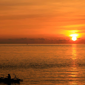 Sunset in Manado by Jemmy Kusnandi - Landscapes Waterscapes