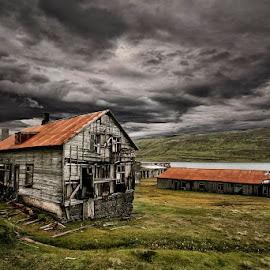 Dark Desolation by Þorsteinn H. Ingibergsson - Buildings & Architecture Decaying & Abandoned ( clouds, iceland, sky, nature, structor, landscape, abandoned )