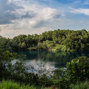 Quarry by Yi Xuan Lee - Backgrounds Nature ( quarry, lake, pulau ubin, singapore, granite )
