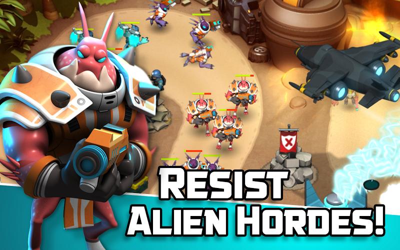 Alien Creeps TD - Epic tower defense Screenshot 1