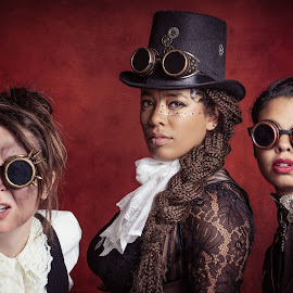 Steam by Henk  Veldhuizen - People Portraits of Women ( steampunk, portraits of women, portraits, portrait photographers, fineart, portrait, women, portraiture )