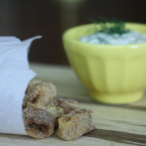Gluten-Free Fried Calamari with Dill Tartar Sauce