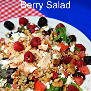 Blackened Chicken Berry Salad