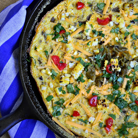 Corn and Grits Pudding with Green Chilies and Cheese
