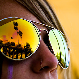 Palm Springs by Shawn Greenwald - People Body Art/Tattoos ( girl, california, hotwoman, gold, sunglasses, dessert )