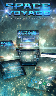 Space Voyage Animated Keyboard - screenshot