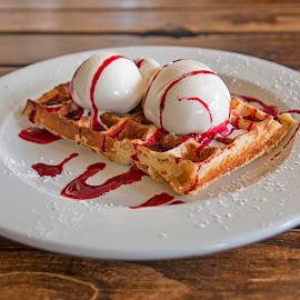 Waffle delight by Jess van Putten - Food & Drink Candy & Dessert ( waffle, food, ice cream, yummy, dessert )