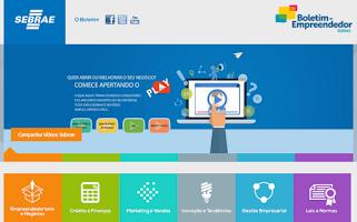 Screenshot of Boletim do Empreendedor SEBRAE